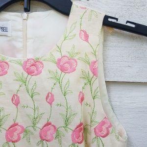 Vintage Sara Campbell Linen Floral Dress
